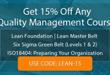 Quality Management Course Sale